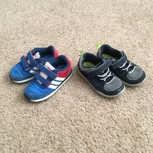 Adidas sneakers and Carter's sneakers size 7